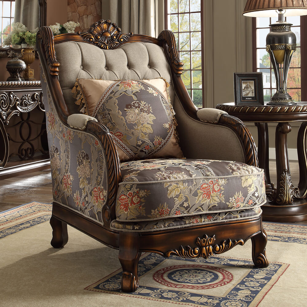 This sofa set offers gorgeous faux leather upholstery,. Traditional glamorous Homey Design Luxurious Dark Red 3pc ...