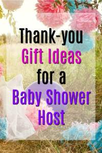 Thank You Gift Ideas For Baby Shower Hostess