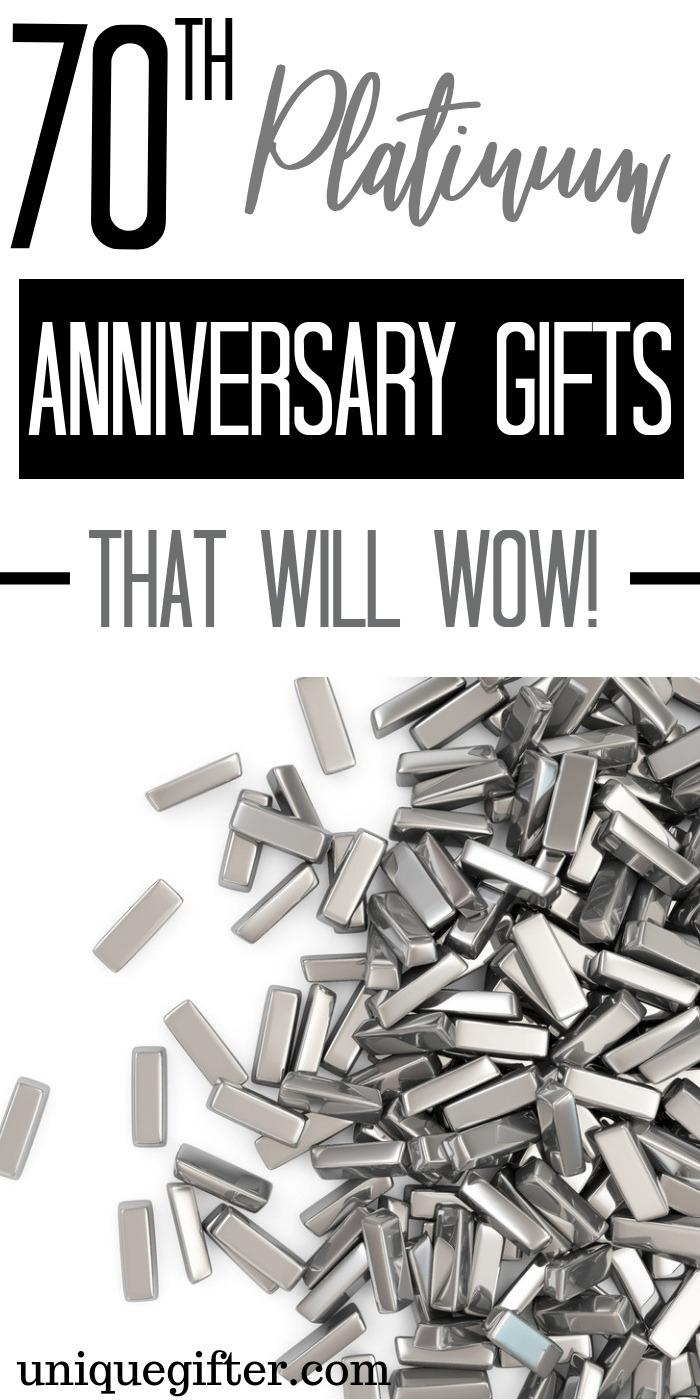 70th Wedding Anniversary Gifts : wedding, anniversary, gifts, Platinum, Anniversary, Ideas, Unique, Gifter