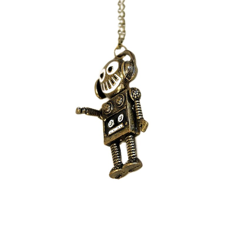 steampunk robot pendant