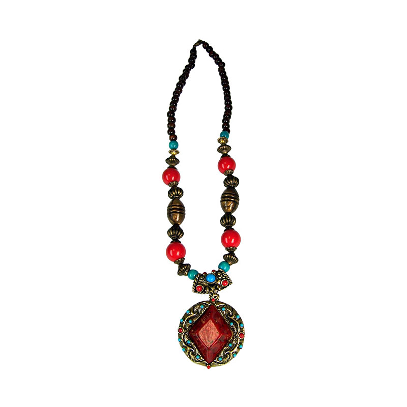 Tibetan Style Diamond Necklace - artnomore.co.uk