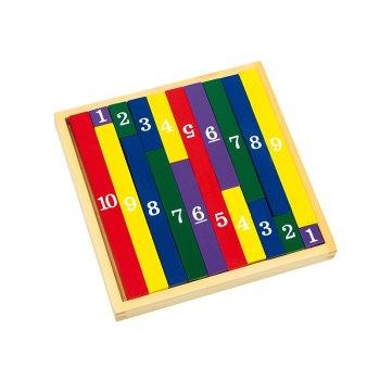 Squared Multiplication Sticks – wooden educational toy by Legler - artnomore.co.uk