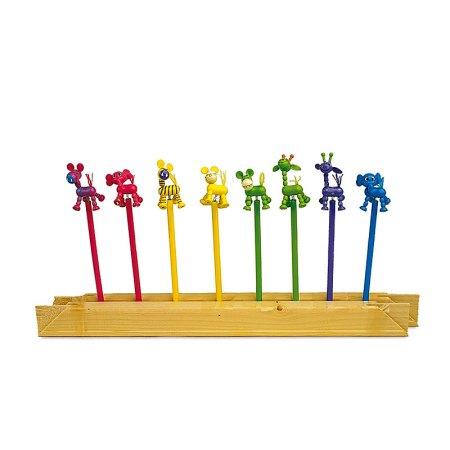 Africa Pencils – set of 8 wooden animal pencils from Legler - artnomore.co.uk