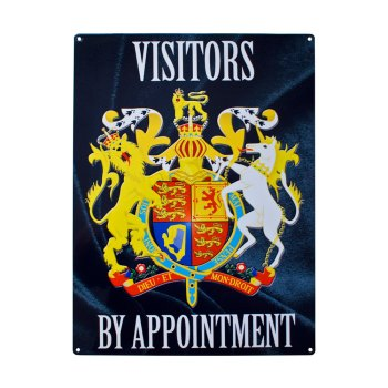 Visitors by appointment metal sign plates