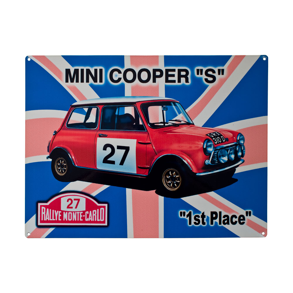 Mini Cooper Metal Sign