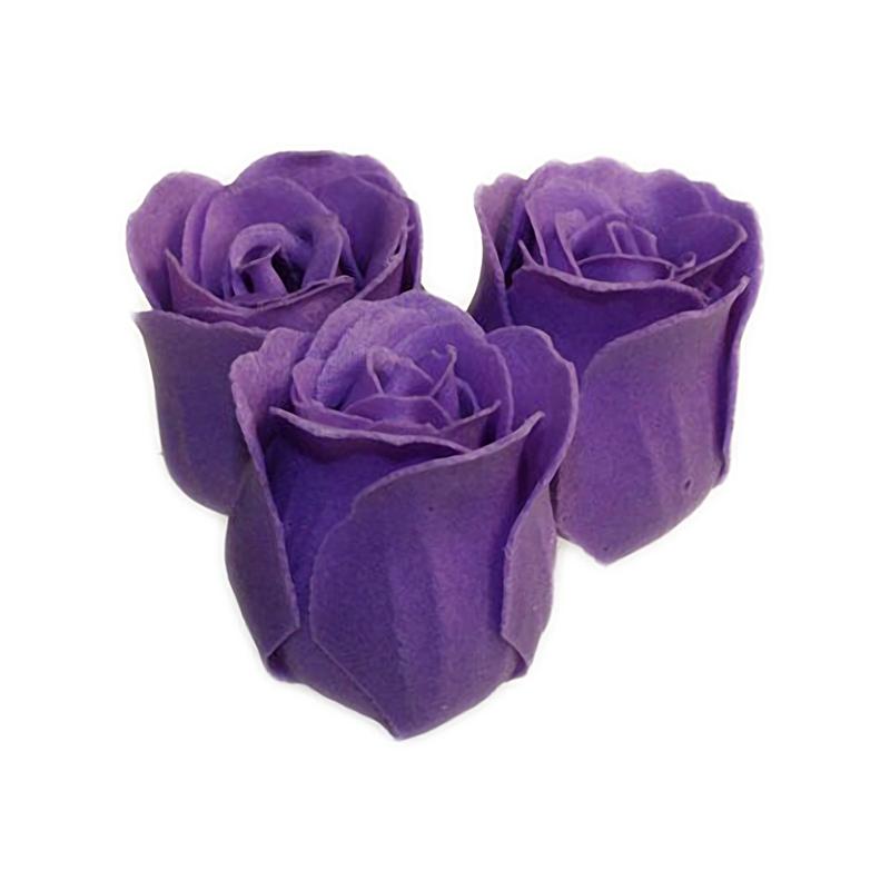 3 Roses in Heart Box (Lavender fragrance) artnomore.co.uk