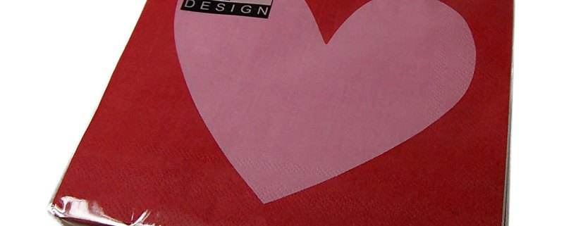 Valentine's Day Big Hearts Napkins - artnomore.co.uk
