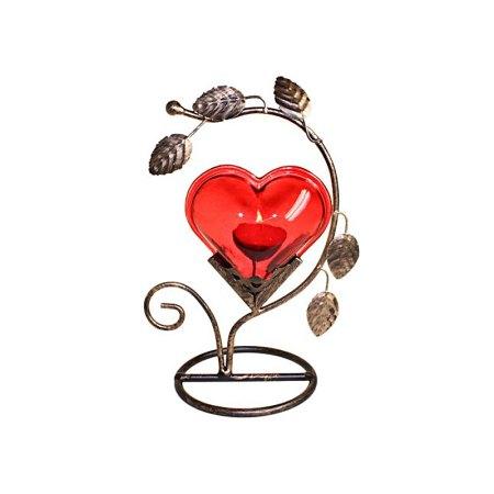 Single Big Heart Romantic Candle Holder - artnomore.co.uk