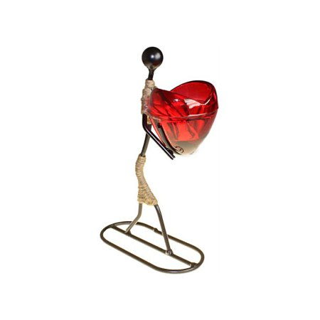 Girl Gives Heart Candle Holder - artnomore.co.uk
