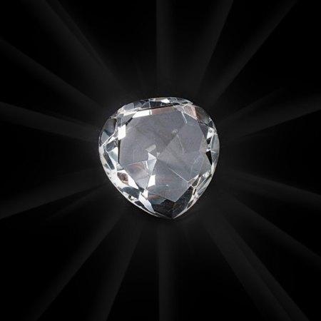 Plain Clear Crystal Heart - artnomore.co.uk
