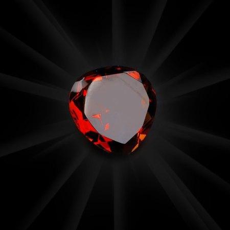 Plain Amber Crystal Heart - artnomore.co.uk