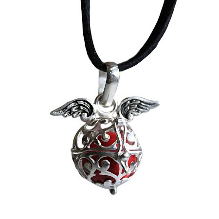 Double Angel Wing Necklace - Ruby