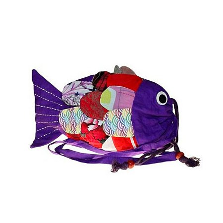 Recycled Handmade Fish Bags - Lilac
