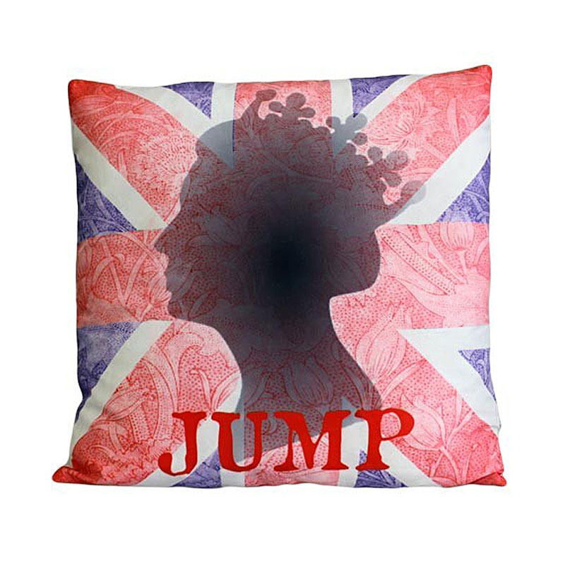 Art Cushion Cover - HRH - Jump - artnomore.co.uk gift shop
