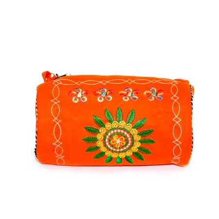 Wheel Of Life Log Tibetan Hand Bag - Orange - artnomore.co.uk gift shop