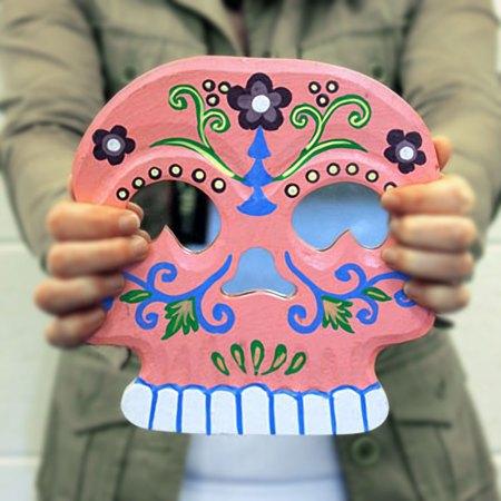 Floral Skull Mirror - artnomore.co.uk