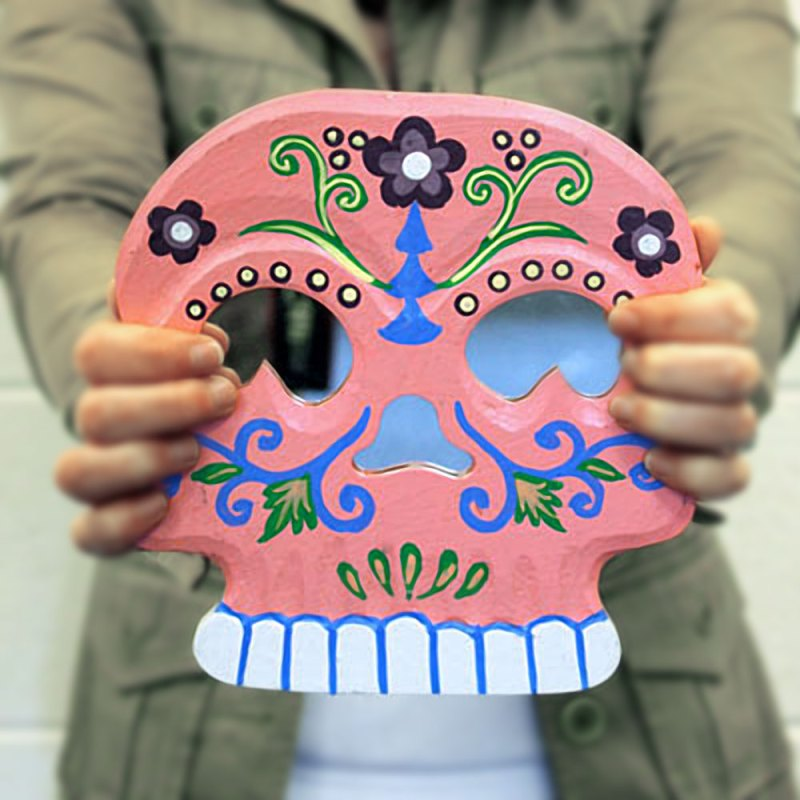 Floral Skull Mirror - artnomore.co.uk
