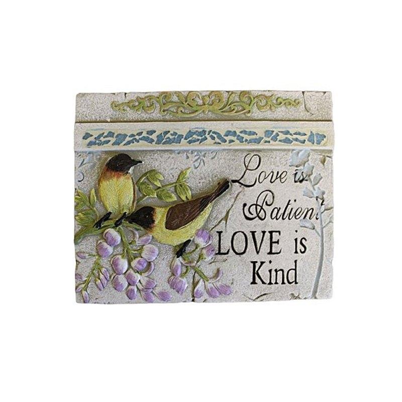 Wise Word Plaque Lrg - Love is Patient