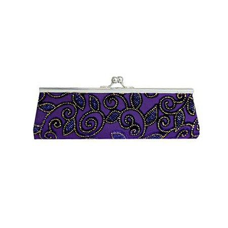 An image of a Long Purple Clutch Bag from artnomore.co.uk