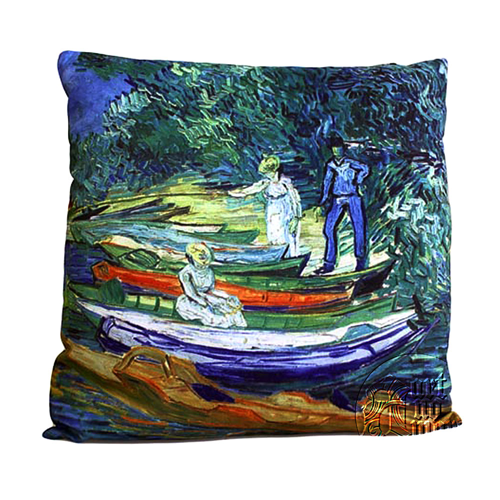 art cushion covers van gogh rowing boats