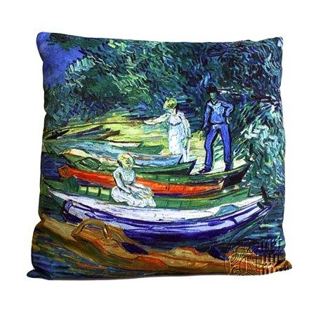 art cushion covers van gogh rowing boats