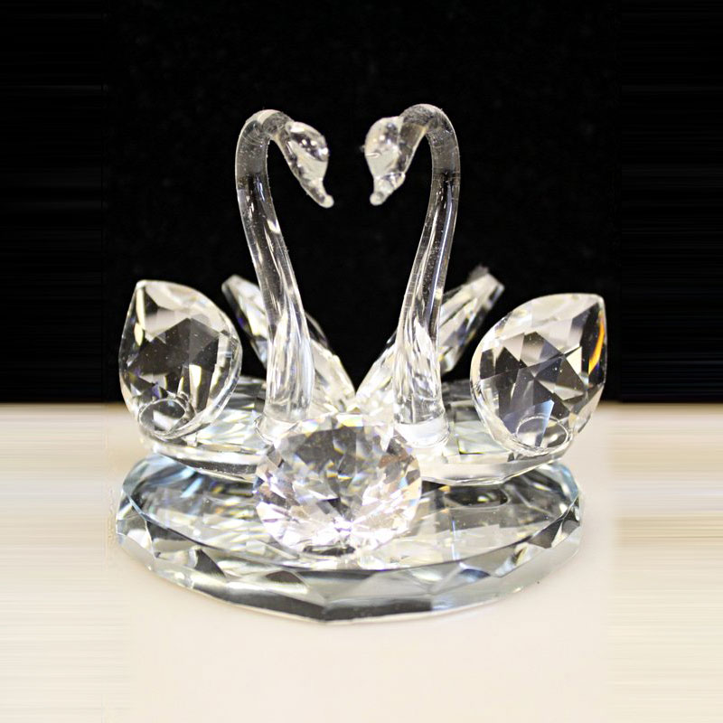 large crystal swan