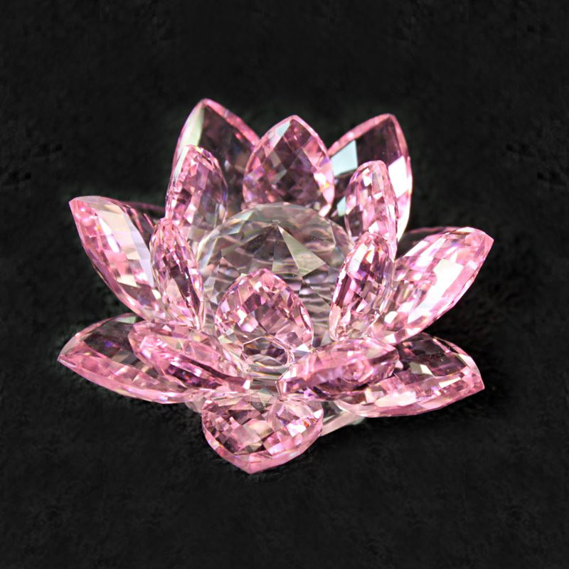 crystal lotus flower pink image