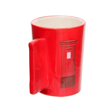 ted smith mugs red letterbox handle ceramic mug image 3