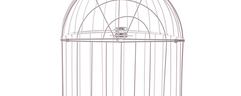 38cm domed wire bird cage decorative image 3