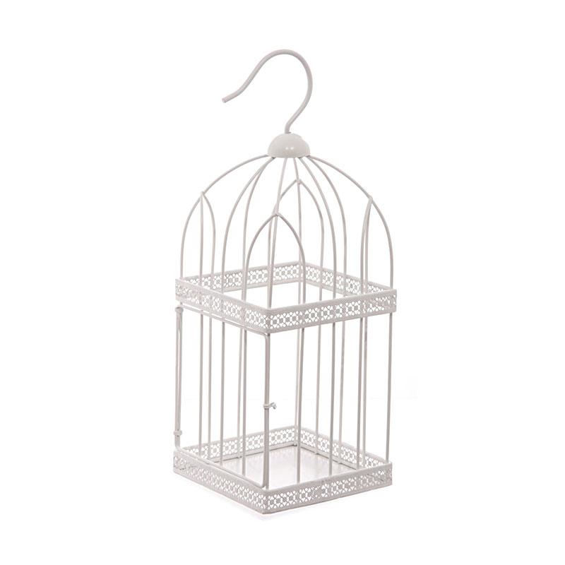 40cm square wire bird cage decorative image 3