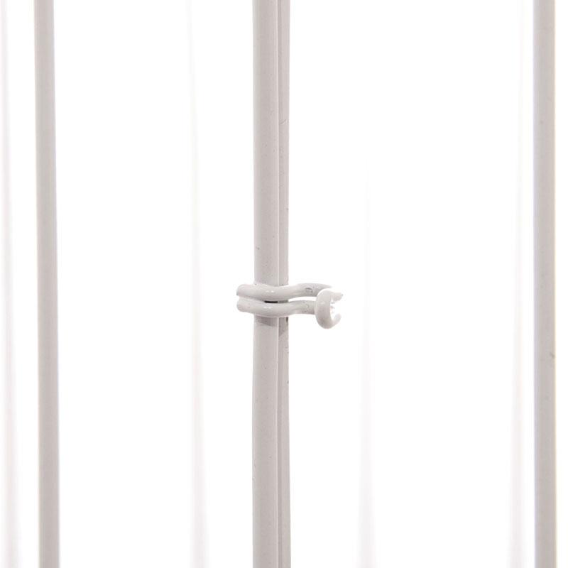 44cm square white wire bird cage decorative image 4