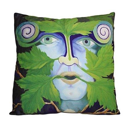 art cushion covers green man