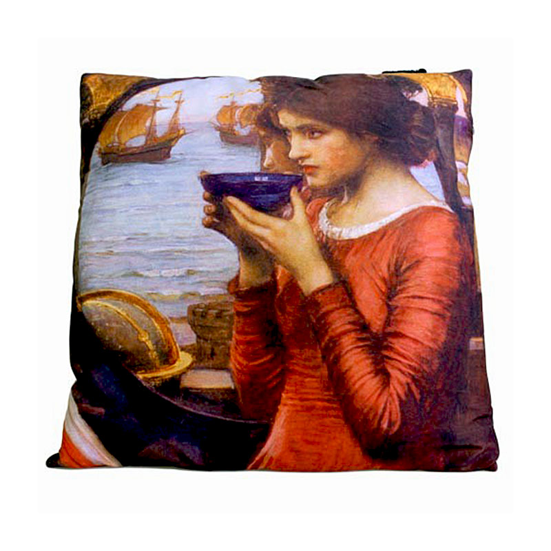 art cushion covers based on painting Destiny by John William Waterhouse