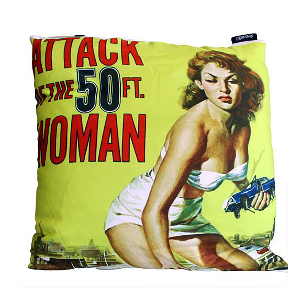 the attack of the 50 ft woman horror movie cushions cover