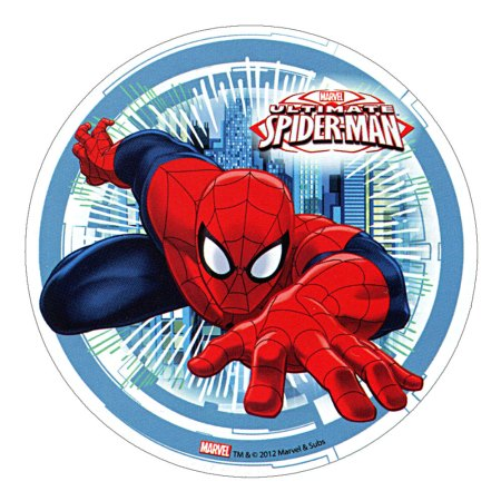 "ULTIMATE SPIDERMAN Edible Cake Topper (8.27"") design 2"