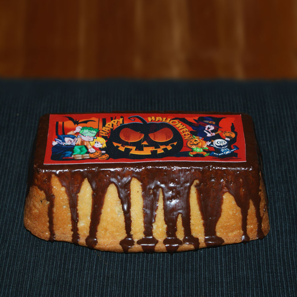 Halloween Cake Toppers Funny Monsters Rectangle Design Cake image