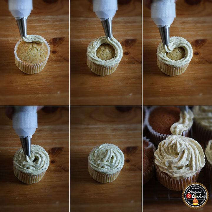pistachio cupcake recipe tutorial image