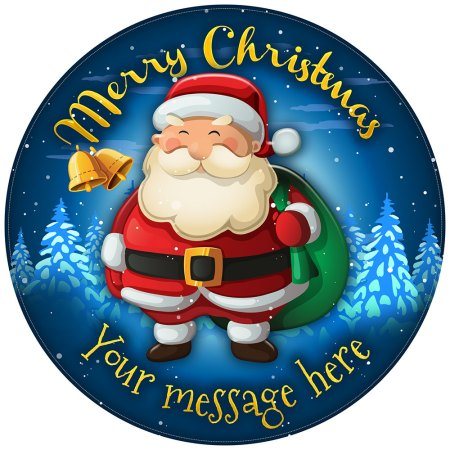 Santa Claus Cake Topper Personalised Christmas Cake Decoration round image