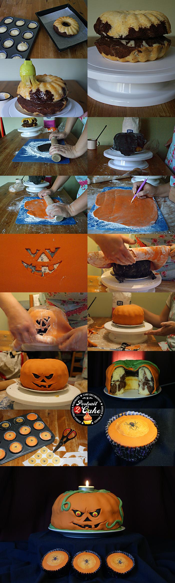 Halloween bundt cake icing tutorial