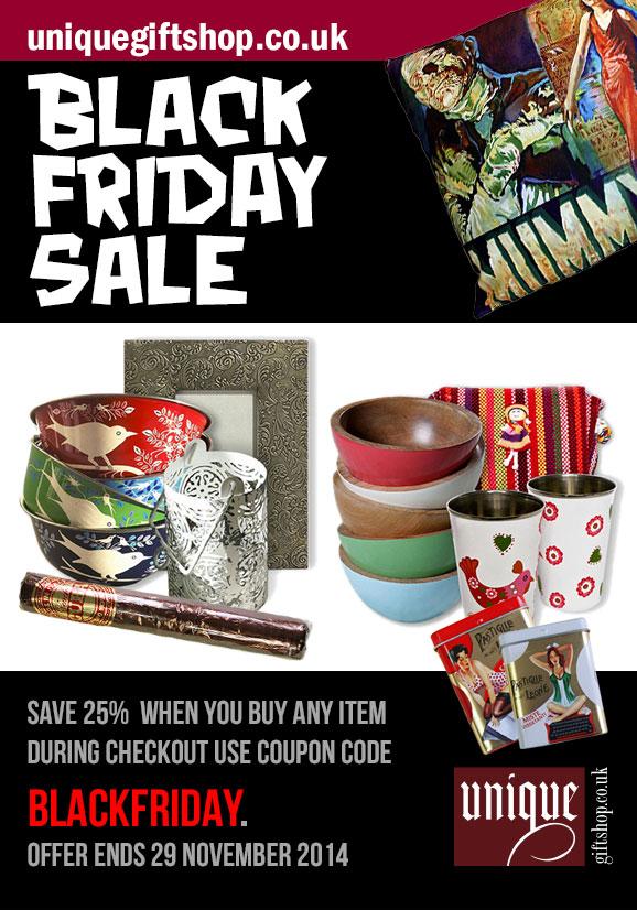 black Friday 2014 sale - uniquegiftshop.co.uk