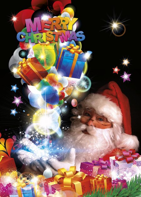 Santa Claus greeting cards - Merry Christmas Image
