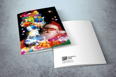 Santa Claus greeting cards - Merry Christmas