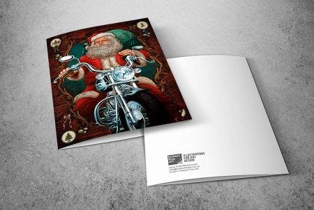 Santa Claus greeting cards - Biker Santa