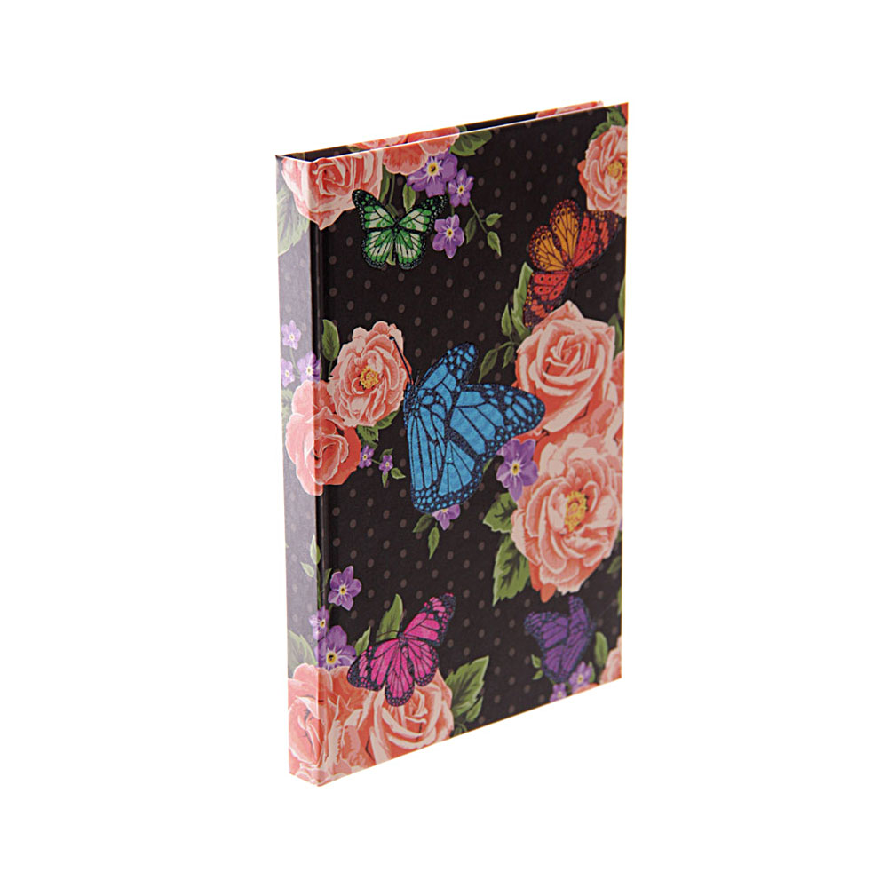 Beautiful Midnight Butterfly Notebook A6