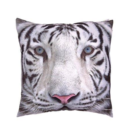 decorative art print snow tiger cushion image