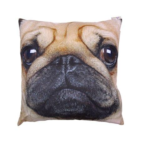 pug print cushion