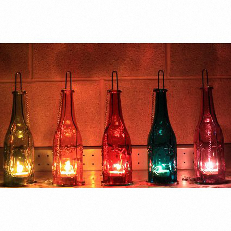 Recycled Bottle Lantern - five colours