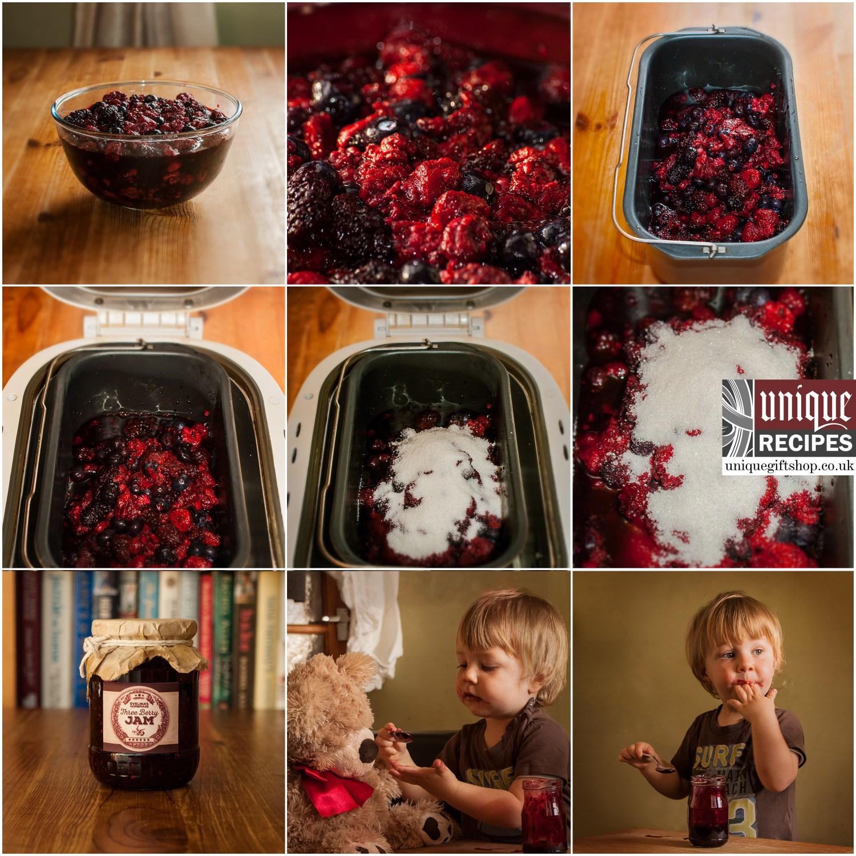 how to make three berry jam image tutorial