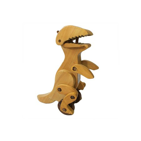 Indian haldu wood retro ornament toy dinosaur