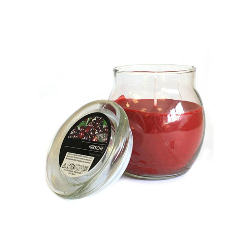 scented glass jar candles cherry